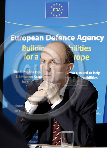 Brussels-Belgium - 15 February 2008---Alexander WEIS, EDA Chief Executive (European Defence Agency), during a press conference---Photo: Horst Wagner/eup-images