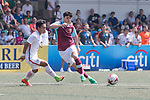 HKFA U-23 (in white) vs West Ham United (in purple) during their Main Tournament Shield Semi-Final match, part of the HKFC Citi Soccer Sevens 2017 on 28 May 2017 at the Hong Kong Football Club, Hong Kong, China. Photo by Chris Wong / Power Sport Images
