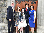 Sinead Leech who was confirmed at The Church of the Immaculate Conception Termonfeckin pictured with parents John and Lorraine, brother Pauric and sister Caoimhe . Photo:Colin Bell/pressphotos.ie