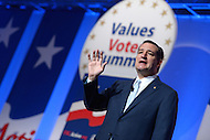 October 11, 2013  (Washington, DC)   Senator Ted Cruz (R-TX) addresses attendees at the Family Research Council's Values Voter Summit October 11, 2013.  (Photo by Don Baxter/Media Images International)