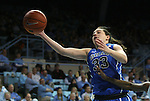 26 February 2012: Duke's Haley Peters. The Duke University Blue Devils defeated the University of North Carolina Tar Heels 69-63 at Carmichael Arena in Chapel Hill, North Carolina in an NCAA Division I Women's basketball game.
