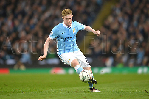 12.04.2016. manchester, England. UEFA Champions league, quarterfinals, second leg. Manchester City versus Paris St Germain.  Kevin De Bruyne (man)