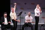 The cast of 'The Gig' perform in a special preview of the 2014 New York Musical Theatre Festival (NYMF) at Ford Foundation Studio Theatre in The Pershing Square Signature Center on July 2, 2014 in New York City.