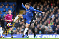 Eden Hazard of Chelsea and Wilfred Ndidi of Leicester city during Chelsea vs Leicester City, Premier League Football at Stamford Bridge on 13th January 2018