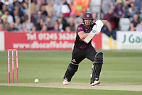 Roelof Van Der Merwe of Somerset CCC drives on the walk during Essex Eagles vs Somerset, Vitality Blast T20 Cricket at The Cloudfm County Ground on 7th August 2019