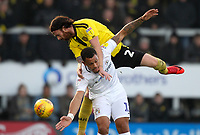 Burton Albion's John Brayford in action with Coventry City's Jonson Clarke-Harris <br /> <br /> Photographer Mick Walker/CameraSport<br /> <br /> The EFL Sky Bet League One - Burton Albion v Coventry City - Saturday 17th November 2018 - Pirelli Stadium - Burton upon Trent<br /> <br /> World Copyright &copy; 2018 CameraSport. All rights reserved. 43 Linden Ave. Countesthorpe. Leicester. England. LE8 5PG - Tel: +44 (0) 116 277 4147 - admin@camerasport.com - www.camerasport.com