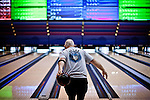 Phil Johnson bowls at the National Bowling Stadium in Reno, Nevada, July 5, 2012.
