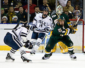 Sean Backman (Yale - 16), Wahsontiio Stacey (Vermont - 9) - The University of Vermont Catamounts defeated the Yale University Bulldogs 4-1 in their NCAA East Regional Semi-Final match on Friday, March 27, 2009, at the Bridgeport Arena at Harbor Yard in Bridgeport, Connecticut.