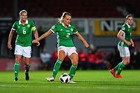 Rachel Newborough of Northern Ireland in action during the UEFA Womens Euro Qualifier match between Wales and Northern Ireland at Rodney Parade in Newport, Wales, UK. Tuesday 03, September 2019