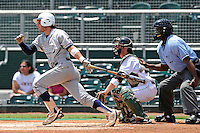 5 June 2010:  FIU's Garrett Wittels (10) hits a double in the first inning as the Dartmouth Green Wave defeated the FIU Golden Panthers, 15-9, in Game 3 of the 2010 NCAA Coral Gables Regional at Alex Rodriguez Park in Coral Gables, Florida.  With the double, Wittels extended his hitting streak to 56 games, moving within two games of Oklahoma State's Robin Ventura, who holds the NCAA Division I record with a 58-game hitting streak in 1987.