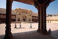 Indien, Festung Amber bei Jaipur, Ganesha-Tor im Palast, UNESCO-Weltkulturerbe