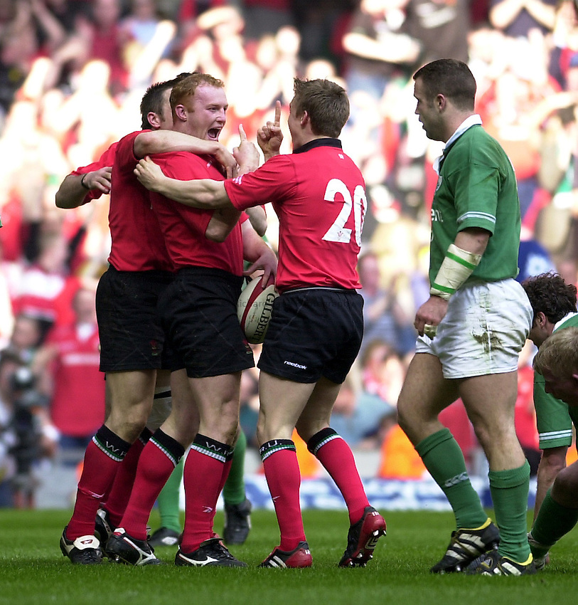 Photo: Greig Cowie.RBS Six Nations Championship. Wales v Ireland 22/03/2003.Martyn Williams.