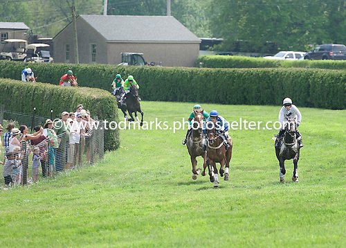 Wazee Moto leads into the uphill stretch run of the Isabel DuPont Sharp Memorial at Winterthur.