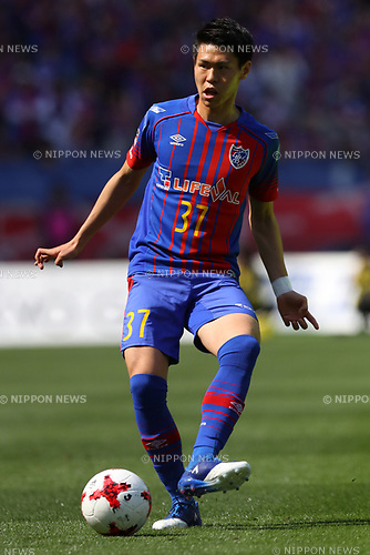 Kento Hashimoto (FC Tokyo), <br /> APRIL 16, 2017 - Football / Soccer : <br /> 2017 J1 League match between F.C. Tokyo 0-1 Urawa Reds <br /> at Ajinomoto Stadium, Tokyo, Japan. <br /> (Photo by AFLO SPORT)