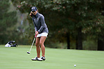 CHAPEL HILL, NC - OCTOBER 13: South Carolina's Marion Veysseyre (FRA) on the 10th green. The first round of the Ruth's Chris Tar Heel Invitational Women's Golf Tournament was held on October 13, 2017, at the UNC Finley Golf Course in Chapel Hill, NC.