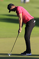 Lucas Bjerregaard (DEN) birdie putt on the 18th green during Thursday's Round 1 of the 2018 Turkish Airlines Open hosted by Regnum Carya Golf &amp; Spa Resort, Antalya, Turkey. 1st November 2018.<br /> Picture: Eoin Clarke | Golffile<br /> <br /> <br /> All photos usage must carry mandatory copyright credit (&copy; Golffile | Eoin Clarke)