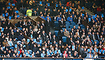 Blue Card protests around the Rangers directors box