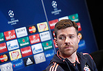 FC Bayern Munchen's Xabi Alonso in press conference  after Champions League 2015/2016 Semi-Finals 1st leg match. April 26,2016. (ALTERPHOTOS/Acero)