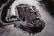 Nova Scotia, Canada, 1967. Aerial view of the capital Halifax.