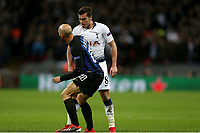Harry Winks of Tottenham Hotspur gives Borja Valero of Internazionale a piece of his mind during Tottenham Hotspur vs Inter Milan, UEFA Champions League Football at Wembley Stadium on 28th November 2018
