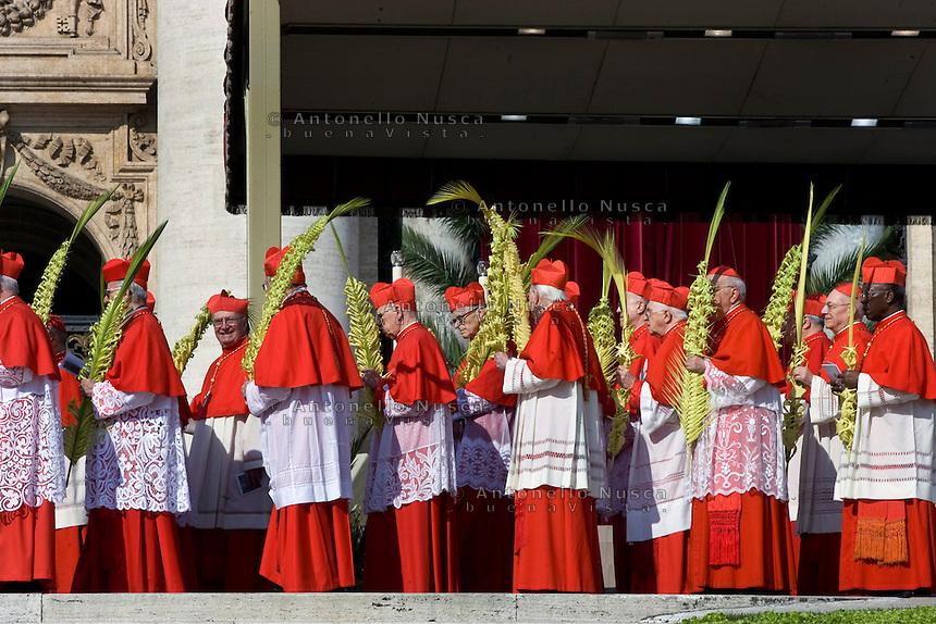 Cardinali in Piazza San Pietro in occasione della Domenica delle Palme