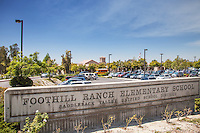 Foothill Ranch Elementary School Monument and Parking Lot