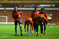 Markus Schwabl of Fleetwood Town warming up with team  mates before the Sky Bet League 1 match between Walsall and Fleetwood Town at the Banks's Stadium, Walsall, England on 21 November 2017. Photo by Leila Coker.