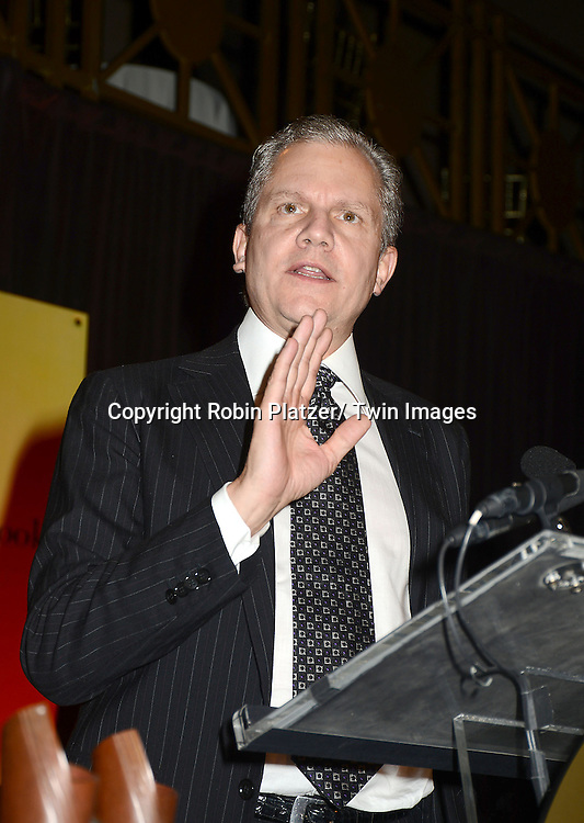 honoree Arthur O. Sulzberger, Jr accepts the Literarian Award at  the 2012 National Book Awards Dinner and Ceremony on November 14, 2012 at Cipriani Wall Street in New York City.