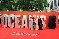 LONDON, ENGLAND - JUNE 13: Helena Bonham Carter, Sandra Bullock, Sarah Paulson and Mindy Kaling attending 'Ocean's 8' UK Premiere at Cineworld, Leicester Square on June 13, 2018 in London, England.<br /> CAP/MAR<br /> &copy;MAR/Capital Pictures /MediaPunch ***NORTH AND SOUTH AMERICAS ONLY***