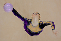 Silviya D Miteva (BUL) performs with the ball during the final of the 2nd Garantiqa Rythmic Gymnastics World Cup held in Debrecen, Hungary. Sunday, 07. March 2010. ATTILA VOLGYI