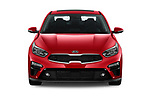Car photography straight front view of a 2019 KIA Forte EX 4 Door Sedan