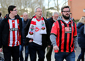 3rd December 2017, Vitality Stadium, Bournemouth, England; EPL Premier League football, Bournemouth versus Southampton; Fans make their way to the turnstiles