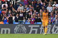 Crystal Palace fans taunt Brighton & Hove Albion players during Crystal Palace vs Brighton & Hove Albion, Premier League Football at Selhurst Park on 14th April 2018
