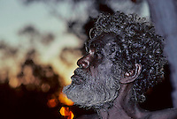 A PROUD ABORIGINAL TRIBAL ELDER IN ARNHEM LAND, NORTHERN TERRITORY AUSTRALIA