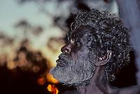 A PROUD ABORIGINAL TRIBAL ELDER IN ARNHEM LAND, NORTHERN TERRITORY AUSTRALIA