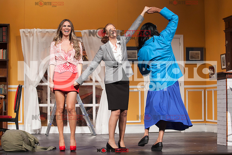 Actors Andoni Ferreno, Vanesa Romero and Esperanza Elipein perform `El Clan de las Divorciadas´ theater play in Madrid, Spain. August 19, 2015. (ALTERPHOTOS/Victor Blanco)