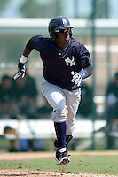 New York Yankees shortstop Jorge Mateo (11) during an Instructional League game against the Pittsburgh Pirates on September 18, 2014 at the Pirate City in Bradenton, Florida.  (Mike Janes/Four Seam Images)