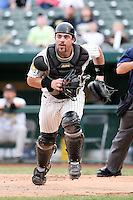 June 13th 2008:  Catcher Konrad Schmidt of the South Bend Silver Hawks, Class-A affiliate of the Arizona Diamondbacks, during a game at Stanley Coveleski Regional Stadium in South Bend, IN.  Photo by:  Mike Janes/Four Seam Images