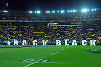 during the Rugby Championship rugby union match between the New Zealand All Blacks and South Africa Springboks at Westpac Stadium in Wellington, New Zealand on Saturday, 27 July 2019. Photo: Mike Moran / lintottphoto.co.nz