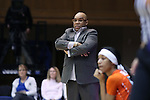 10 February 2017: Syracuse head coach Quentin Hillsman. The Duke University Blue Devils hosted the Syracuse University Orange at Cameron Indoor Stadium in Durham, North Carolina in a 2016-17 Division I Women's Basketball game. Duke won the game 72-55.