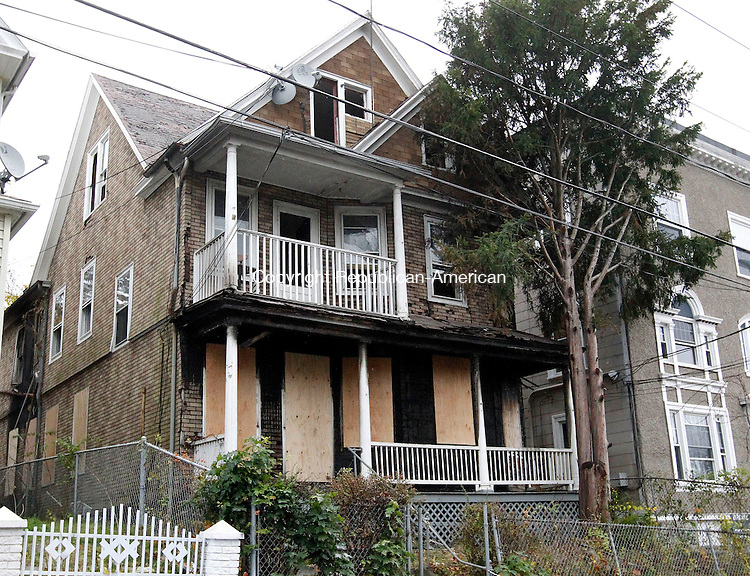 Waterbury, CT-01 November 2012-110112CM01-  Waterbury Police say this home on Chestnut Avenue was the scene of a suspected arson.  Donald McKnight, 20, of 61 Ludlow St has been charged in connection with the fire.  Christopher Massa Republican-American