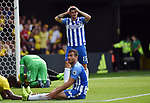 A missed chance by Pascal Grob of Brighton & Hove Albion during the premier league match at the Vicarage Road Stadium, Watford. Picture date 26th August 2017. Picture credit should read: Robin Parker/Sportimage