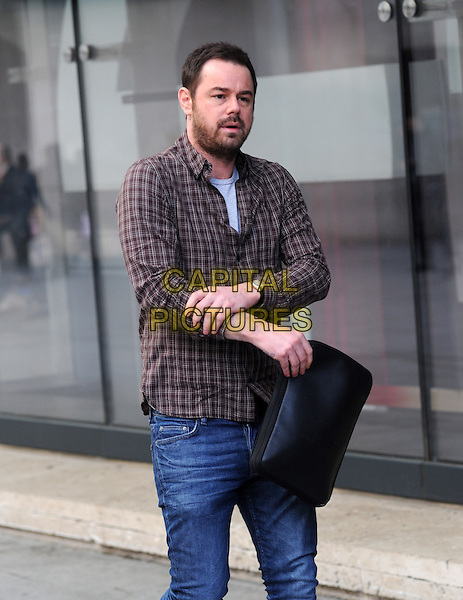LONDON, UNITED KINGDOM - MARCH 17: Danny Dyer  at BBC Radio 1 studios for Sport Relief 'Radio Around The World' on March 17, 2014 in London, England.<br /> CAP/AOU<br /> &copy;AOU/Capital Pictures
