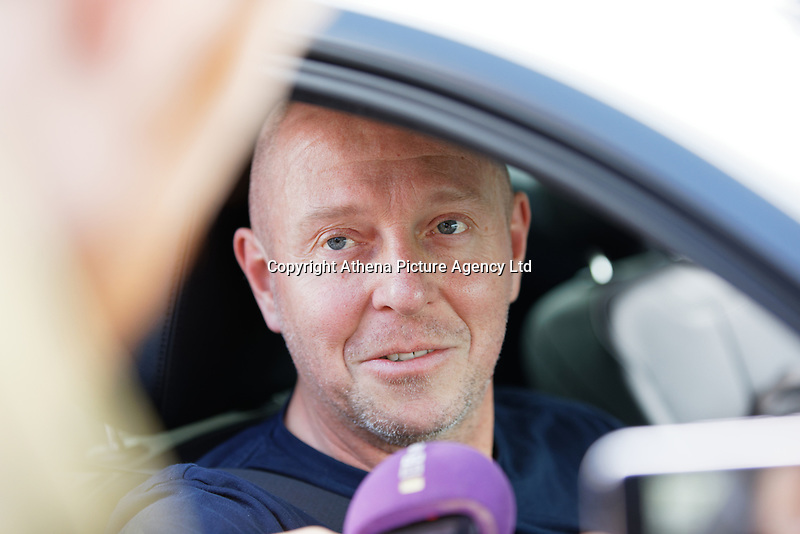 Pictured: A factory worker speaks to the press as he leaves the Ford engine plant in Bridgend, Wales, UK. Thursday 06 June 2019<br /> Re: An announcement on the proposed closure of Ford's Bridgend plant will be made today (Thursday).<br /> Ford Europe and bosses from the United States will meet union leaders at its Essex headquarters.<br /> The plant employs 1,700 workers from across south Wales.