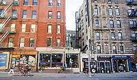 A row of stores and restaurants in the Nolita neighborhood of New York on Saturday, November 19, 2016.  (© Richard B. Levine)