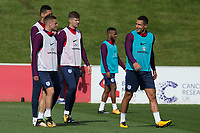 Jamie Vardy and Kyle Walker during the part open training session of the  England national football squad at St George's Park, Burton-Upon-Trent, England on 31 August 2017. Photo by James Williamson.