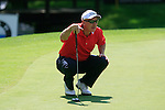 Phillip Price (ENG) lines up his putt on the 5th green during Day 3 of the BMW Italian Open at Royal Park I Roveri, Turin, Italy, 11th June 2011 (Photo Eoin Clarke/Golffile 2011)