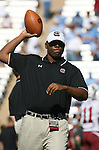 13 October 2007: South Carolina's Defensive Coordinator Tyrone Nix. The University of South Carolina Gamecocks defeated the University of North Carolina Tar Heels 21-15 at Kenan Stadium in Chapel Hill, North Carolina in an NCAA College Football Division I game.