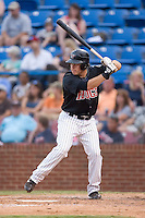 Brett Bonvechio (52) of the Winston-Salem Warthogs at bat at Ernie Shore Field in Winston-Salem, NC, Saturday August 9, 2008. (Photo by Brian Westerholt / Four Seam Images)
