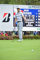 Ross Fisher (ENG) watches his putt on 7 during round 3 of the World Golf Championships, Mexico, Club De Golf Chapultepec, Mexico City, Mexico. 3/4/2017.<br /> Picture: Golffile | Ken Murray<br /> <br /> <br /> All photo usage must carry mandatory copyright credit (&copy; Golffile | Ken Murray)